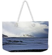 Iceland Lava Field Mountains Clouds Iceland Lava Field Mountains Clouds Iceland 2 282018 1837.jpg Weekender Tote Bag