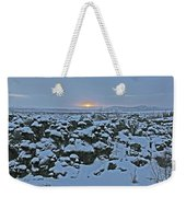 Iceland Lava Field Sunrise Mountains Clouds Iceland 2 2112018 1024jpg Weekender Tote Bag