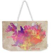 Iceland Map Weekender Tote Bag