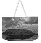 Iceland Mountain Reflections Bw Weekender Tote Bag