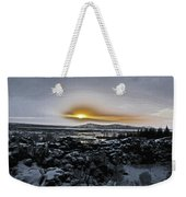 Iceland Sunrise Iceland Lava Field Streams Sunrise Mountains Clouds Iceland 2 2112018 1095.jpg Weekender Tote Bag