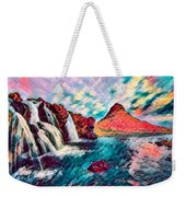 Iceland Waterfalls Weekender Tote Bag
