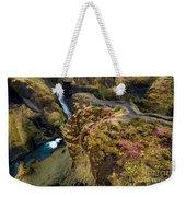 Icelandic Autumn Weekender Tote Bag