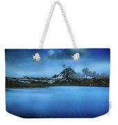 Icelandic Blue Weekender Tote Bag