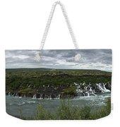 Icelandic Waterfall Weekender Tote Bag
