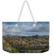 Icelands Mossy Volcanic Rock Weekender Tote Bag