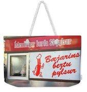 Iceland's World Famous Hot Dog Stand Iceland 2 3122018 J2328.jpg Weekender Tote Bag