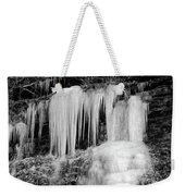Icicles At Frozen Head Weekender Tote Bag