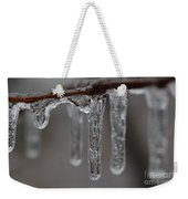 Icicles Close-up Weekender Tote Bag
