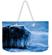 Icicles On The Rocks Weekender Tote Bag