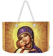 Icon Madonna And Infant Jesus Weekender Tote Bag