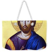 Icon Of Christ In Jericho Weekender Tote Bag