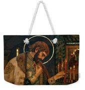 Icon Of Reverend Prince Alexander Nevsky. Saint Petersburg Weekender Tote Bag