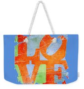 Iconic Love - Grunge Weekender Tote Bag