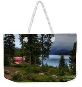 Iconic Maligne Lake And Boat House II Weekender Tote Bag