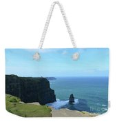 Iconic Needle Rock Formation And The Cliff's Of Moher Weekender Tote Bag
