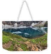Icy Blue And Lush Green Weekender Tote Bag