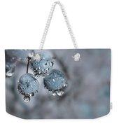 Icy Blue Berries Weekender Tote Bag