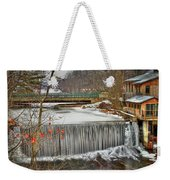Icy Conditions Weekender Tote Bag