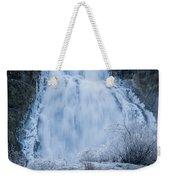 Icy Falls Weekender Tote Bag