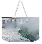 Icy Fury - Niagara Falls Spectacular Ice Buildup Weekender Tote Bag