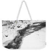 Icy Swath Weekender Tote Bag