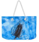 Icy Thistle Plant Weekender Tote Bag
