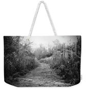 Icy Trail In Black And White Weekender Tote Bag