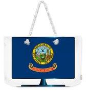 Idaho Flag Tv Weekender Tote Bag