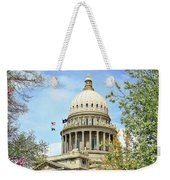 Idaho State Capitol In The Spring Weekender Tote Bag