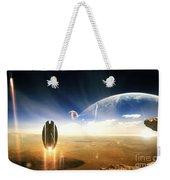 Idea Taken From Star Trek. The Project Weekender Tote Bag by Tobias Roetsch