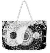 Ideal Balance Black And White Yin And Yang By Sharon Cummings Weekender Tote Bag