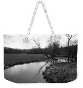 Idyllic Creek - Black And White Weekender Tote Bag