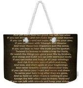 If Poem Vintage Canvas Weekender Tote Bag