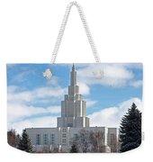 If Temple Against The Sky Weekender Tote Bag