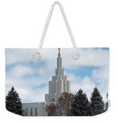 If Temple Dusted In Snow Weekender Tote Bag