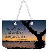 If You Just Smile Weekender Tote Bag