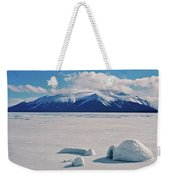 Igloo On Atlin Lake - Bc Weekender Tote Bag