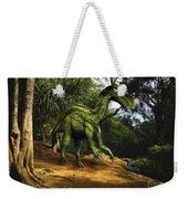 Iguanodon In The Jungle Weekender Tote Bag