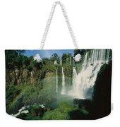Iguazu Waterfalls With A Rainbow Weekender Tote Bag