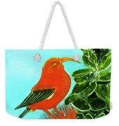 IIwi Scarlet Honeycreeper Bird #54 Weekender Tote Bag