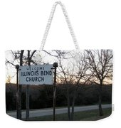 Illinois Bend Church Sign Weekender Tote Bag