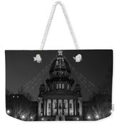 Illinois State Capitol B W Weekender Tote Bag