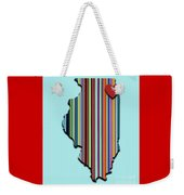 Illinois With Love Geometric Map Weekender Tote Bag