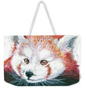 Illlustration Of Red Panda On Branch Drawn With Faber Castell Pi Weekender Tote Bag