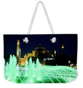 Illuminated Fountain Of Istanbul Weekender Tote Bag