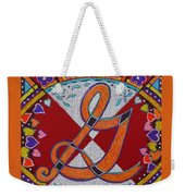 Illuminated Letter G Weekender Tote Bag