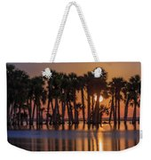 Illuminated Palm Trees Weekender Tote Bag