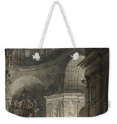 Illumination Of The Cross In St. Peter's On Good Friday, 1787 Weekender Tote Bag