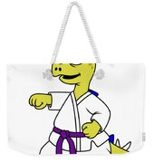 Illustration Of A Stegosaurus Weekender Tote Bag by Stocktrek Images